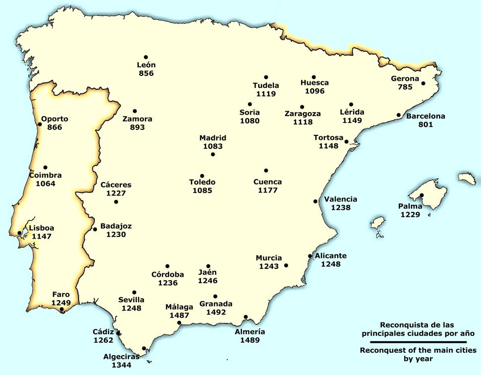 Spain Reconquista cities
