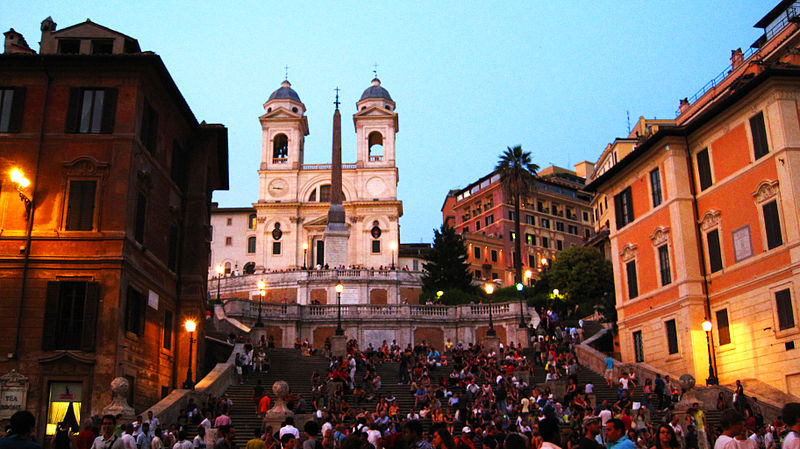 Spanish steps at dusk from http://commons.wikimedia.org/wiki/File:Spanish_Steps_at_Dusk.jpg