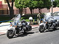 Spanish police motorcycles in Marbella, Spain 2005.jpg