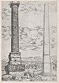 Speculum Romanae Magnificentiae- Column of Antoninus and a Roman Obelisk MET DP870467.jpg