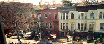Typical Crown Heights row houses