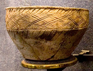 History of human settlement in the Ural Mountains - Srubna culture vessel