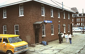 St. Albans station (Vermont) - The Amtrak station building in 1987
