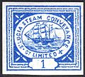 St. Lucia Steam Conveyance Company Limited 1 pence stamp c. 1872.jpg