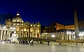 St. Peter's Square and St. Peter's Basilica by Night (32746849518).jpg