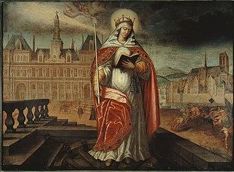 Santa Genoveffa, dipinto del XIX secolo