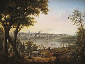 History of St. Louis (1804–65) - Saint Louis in 1846, painted by Henry Lewis.