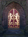St Giles RC Church Cheadle Staffs west door.jpg