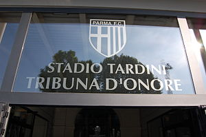 Stadio Ennio Tardini - Entrance to the Tribuna d'Onore.