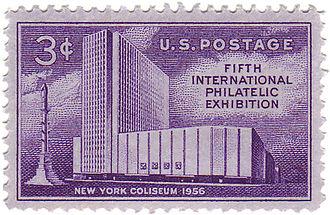 New York Coliseum - Coliseum commemorative stamp