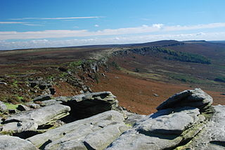 Stanage Edge mountain in the United Kingdom