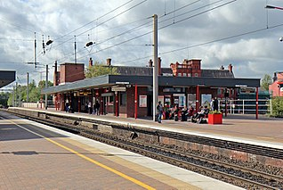 One of two railway stations in Wigan, Greater Manchester, England