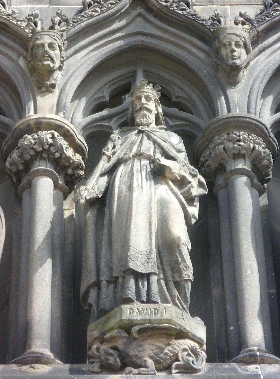 Statue of David I on the West Door of St. Giles High Kirk, Edinburgh