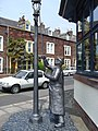 Statue outside Maryport Library - geograph.org.uk - 873599.jpg