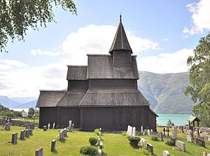 Stave church - Urnes stave church in Luster, Norway, listed as a world Heritage Site by UNESCO