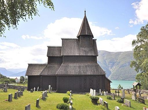 Stave church Urnes, exterior view 1