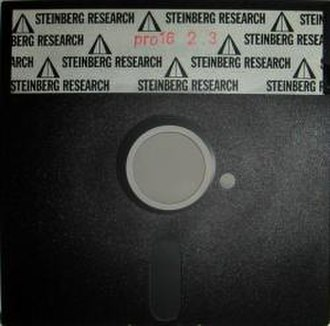 Steinberg - Steinberg's first product, Steinberg Pro 16, was sold on floppy disks. This is version 2.3
