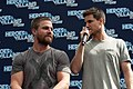 Stephen Amell and Robbie Amell HVFFLondon2017Amell-ALS-29 (35313380615).jpg