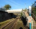 Steps up to a footbridge, Tonypandy Railway Station - geograph.org.uk - 2668782.jpg