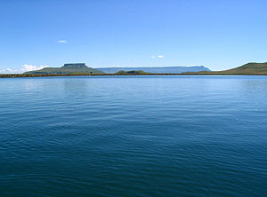 Harrismith - Sterkfontein Dam with Platberg's plateau forming the horizon