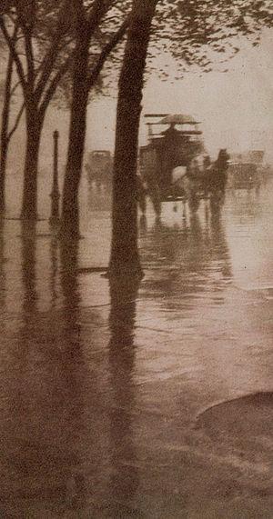 """Pictorialism - """"Spring Showers"""", by Alfred Stieglitz, 1902"""