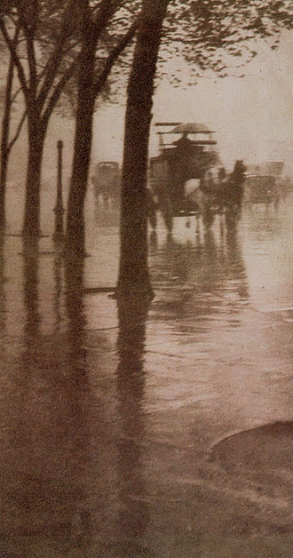 "Pictorialism - ""Spring Showers"", by Alfred Stieglitz, 1902"
