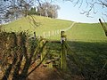 Stile along the path past Lodge Hill - geograph.org.uk - 695932.jpg