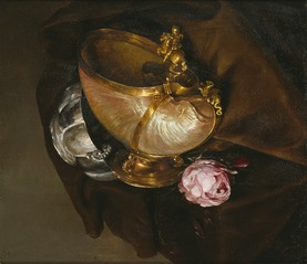 Still Life with a Nautilus Goblet