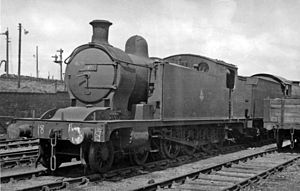 NER Class X - No. 69919 at Stockton Locomotive Depot 1954