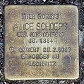 Stolperstein Bachstr 2 (Hansa) Alice Schoeps.jpg