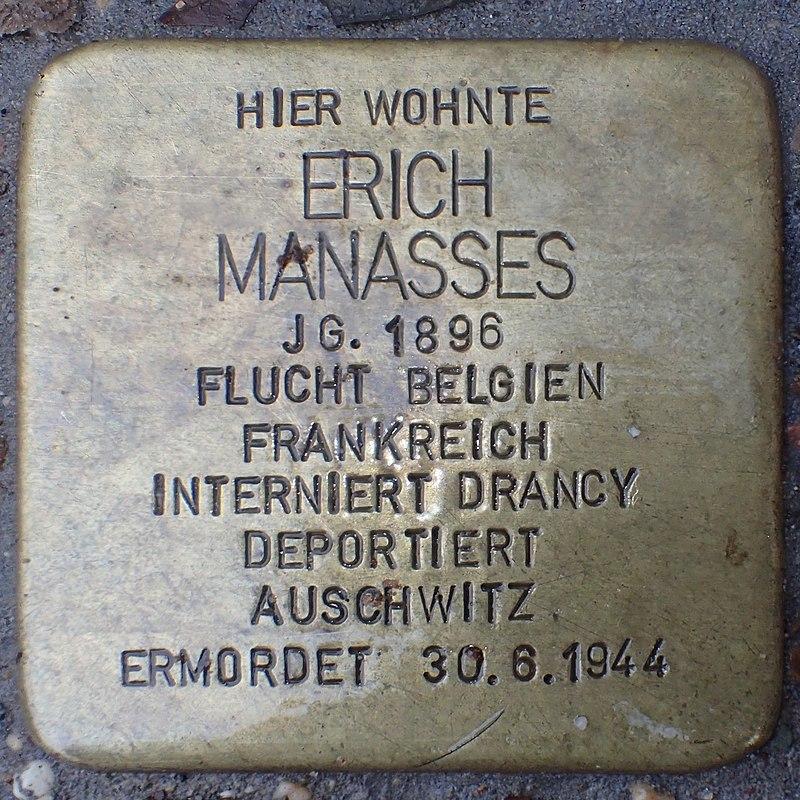 Stolperstein Heinsberg Hochstraße 66 Erich Manasses