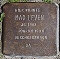 Stolperstein SG - Max-Leven-Gasse 5 - Max Leven PK.jpg