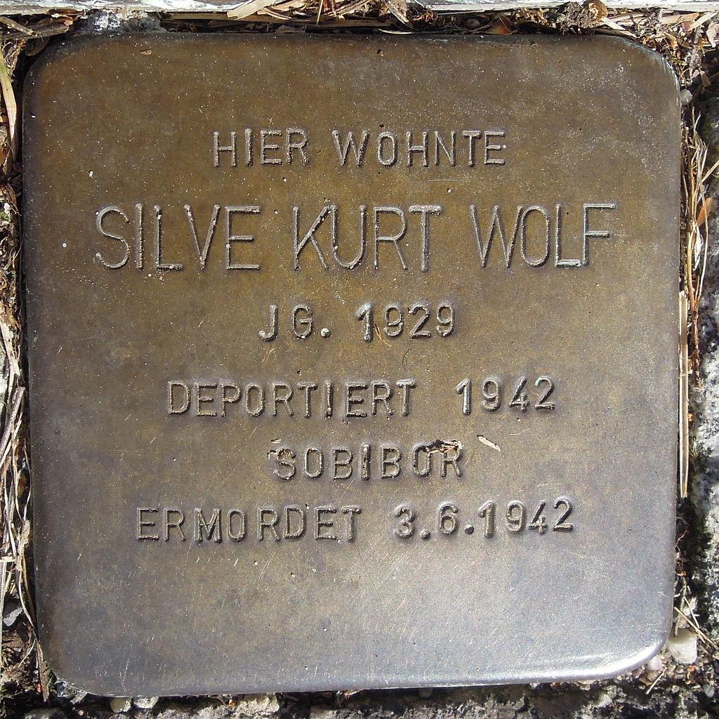 Stolperstein Saarburg Klosterstraße 08 Silve Kurt Wolf.JPG
