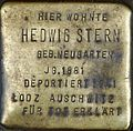 Stolpersteine Köln Hedwig Stern Brüsseler Str 4.jpg