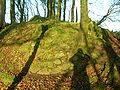 Stone course - Polnoon Castle.JPG