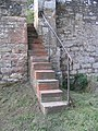 Stone steps at Ale Bridge, Ancrum - geograph.org.uk - 238977.jpg