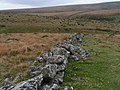 Stone wall on Shovel Down near Fernworthy forest - geograph.org.uk - 1542443.jpg