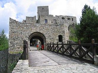 Strečno Castle - Entrance gate