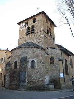 L'église de Saint-Romain-au-Mont-d'Or.