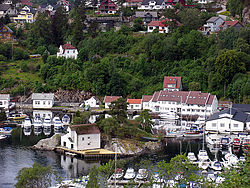View of Strusshamn harbour seen from east