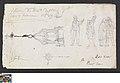 Studies van figuren en een torenspits, circa 1811 - circa 1842, Groeningemuseum, 0041656000.jpg