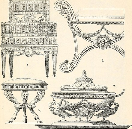 Furniture and objects in the Directory style Styles of ornament, exhibited in designs, and arranged in historical order, with descriptive text. A handbook for architects, designers, painters, sculptors, wood-carvers, chasers, modellers, (14765802365).jpg