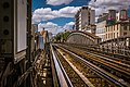 Subway track at Grenelle station, Paris August 2013.jpg