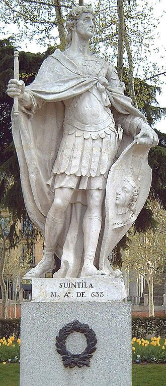 Suintila - Statue in Madrid, by Felipe de Castro, 1750–53