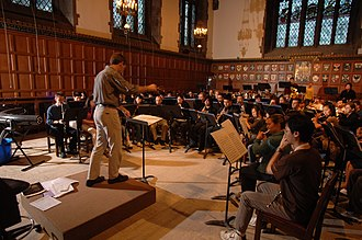 Hart House (University of Toronto) - Hart House Symphonic Band rehearsal in the Great Hall