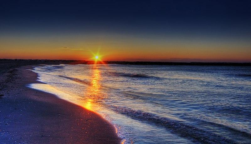 File:Sunrise on the Beach.jpg