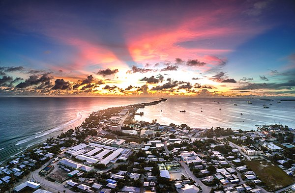 Panorama of Majuro, capital and largest city of Marshall Islands Sunset - Majuro.jpg
