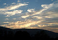 Sunset on a cloudy day at Madhurawada.JPG