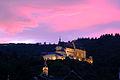 Sunset over the castle at Vianden , Luxemburg.jpg