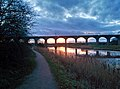 Sunset under Dutton Viaduct - panoramio.jpg